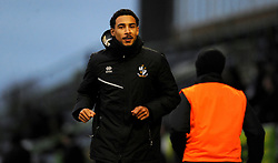 Kurtis Guthrie of Port Vale warms up on the side line- Mandatory by-line: Nizaam Jones/JMP - 16/01/2021 - FOOTBALL - innocent New Lawn Stadium - Nailsworth, England - Forest Green Rovers v Port Vale - Sky Bet League Two