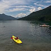 Lake in Val Chiavenna