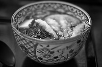 Smelt and Buckwheat Noodle Soup at the Soba Noodle Shop. Across from the Pier at Lake Ashi in Ashigarashimo-gun, Hakone. Image taken with a  Fuji X-T1 camera and 35 mm f/1.4 lens.