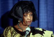 A 24 MG IMAGE OF:<br /> Winnie Mandela speaking at a press conference in June 1990<br /> <br /> <br /> <br /> <br /> Photograph by Dennis Brack  bsb12