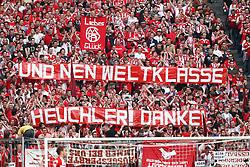 30.04.2011, Allianz Arena, Muenchen, GER, 1.FBL, FC Bayern Muenchen vs FC Schalke 04 , im Bild  Fanaktion, EXPA Pictures © 2011, PhotoCredit: EXPA/ nph/  Straubmeier       ****** out of GER / SWE / CRO  / BEL ******