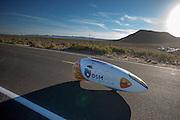 Jan Bos is onderweg in de VeloX2. In de buurt van Battle Mountain, Nevada, strijden van 10 tot en met 15 september 2012 verschillende teams om het wereldrecord fietsen tijdens de World Human Powered Speed Challenge. Het huidige record is 133 km/h.<br /> <br /> Jan Bos is on his way in the VeloX2. Near Battle Mountain, Nevada, several teams are trying to set a new world record cycling at the World Human Powered Vehicle Speed Challenge from Sept. 10th till Sept. 15th. The current record is 133 km/h.