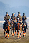 Indian army polo players at Jaipur Polo Club in New Delhi, India