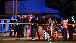 Refugees living in apartments near the corner of State and Wyle streets in Boise, Idaho were reported to be among the nine stabbing victims on Saturday, June 30, 2018. Many families in the area were awaiting information as Boise police investigated the crime scene. The call to police was made at 8:46 p.m. All nine victims were transported to the hospital and police apprehended a suspect at gunpoint soon after the incident. Photo by Darin Oswald/Idaho Statesman/TNS/ABACAPRESS.COM