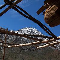 Africa, Morocco, Imlil. Berber Village home terrace in Atlas Mountains.