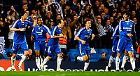 Photo: Alan Crowhurst.<br />Chelsea v FC Porto. UEFA Champions League. Last 16, 2nd Leg. 06/03/2007. Chelsea's Michael Ballack (L) celebrates his goal 2-1.