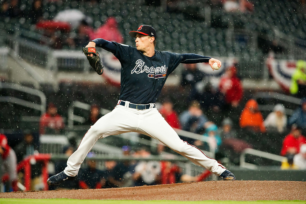 Max Fried pitches during during Braves v. Reds exhibition game on Monday, March 25, 2018 at SunTrust Park. The Braves won 8-5. Photo by Kevin D. Liles/Atlanta Braves