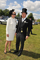VISCOUNT & VISCOUNTESS LINLEY at day 1 of the Royal Ascot Racing Festival 2012 held on 19th June 2012.