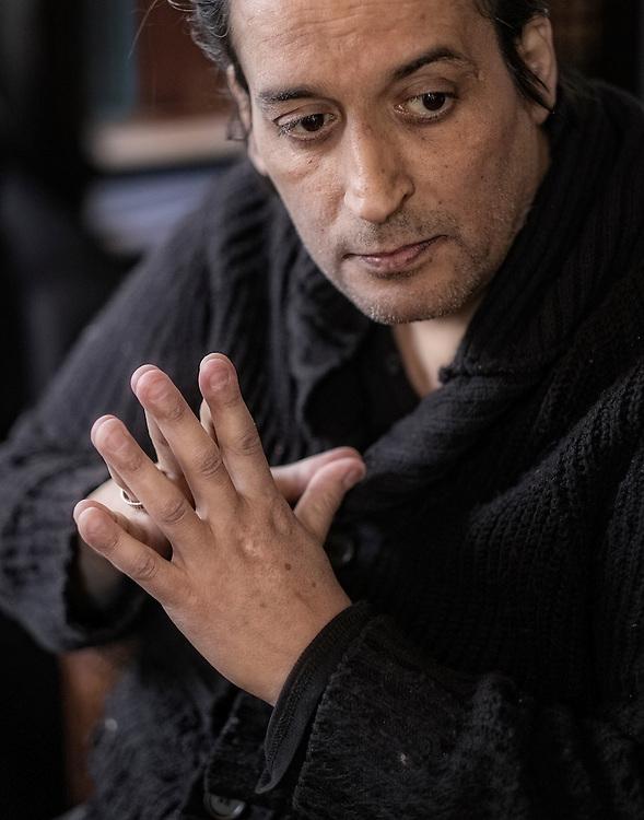 Nederland. Amsterdam, 08-01-2016. Photo: Patrick Post.  Portret van Hafid Bouazza
