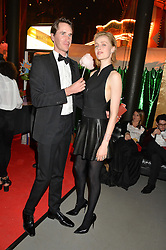 OTIS FERRY and EDIE CAMPBELL at 'The World's First Fabulous Fund Fair' in aid of the Naked Heart Foundation hosted by Natalia Vodianova and Karlie Kloss at The Roundhouse, Chalk Farm Road, London on 24th February 2015.