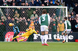 Graham Carey of Plymouth Argyle scores the a penalty to give Plymouth Argyle a 3-2 lead - Mandatory by-line: Dougie Allward/JMP - 17/03/2018 - FOOTBALL - Home Park - Plymouth, England - Plymouth Argyle v Bristol Rovers - Sky Bet League One