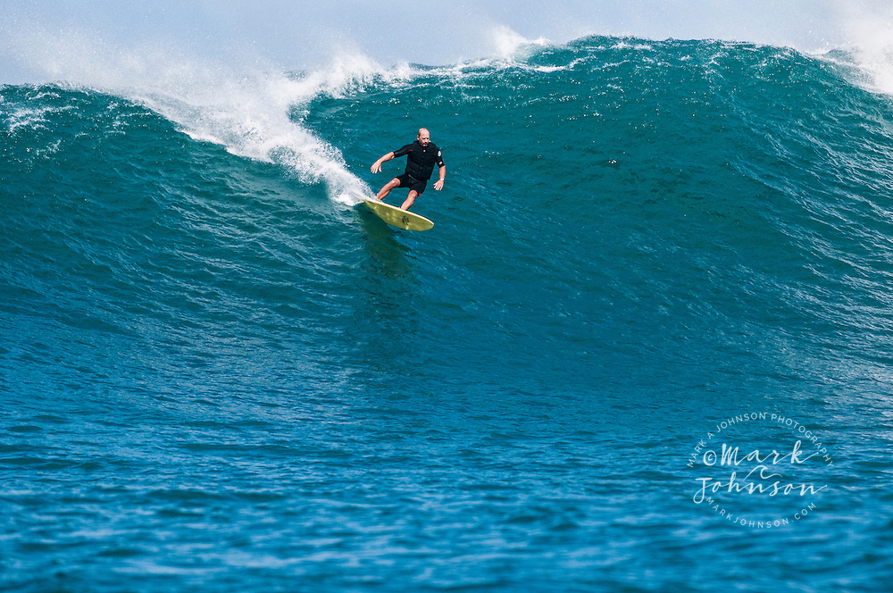 Tow-in surfing, Kauai, Hawaii ***Model Release available