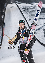 06.01.2019, Paul Außerleitner Schanze, Bischofshofen, AUT, FIS Weltcup Skisprung, Vierschanzentournee, Bischofshofen, Siegerehrung, im Bild Gesamtsieger Ryoyu Kobayashi (JPN) mit dem Tournee Adler // Overall Winner Ryoyu Kobayashi of Japan with the Trophy during the Winner Award Ceremony of the Four Hills Tournament of FIS Ski Jumping World Cup at the Paul Außerleitner Schanze in Bischofshofen, Austria on 2019/01/06. EXPA Pictures © 2019, PhotoCredit: EXPA/ JFK