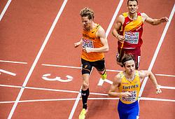 03-02-2017  SRB: European Athletics Championships indoor day 1, Belgrade<br /> In een lege Kombank Arena wordt de eerste dag van het Europees Kampioenschap gehouden / Thijmen Kupers plaatst zich voor de halve finale 800m