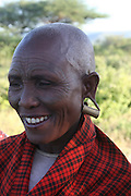 Africa, Tanzania, A mature Maasai male an ethnic group of semi-nomadic people February 2006