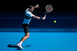 January 20, 2019 - Melbourne, VIC, U.S. - MELBOURNE, VIC - JANUARY 20: GRIGOR DIMITROV (BUL) (AUS) during day seven match of the 2019 Australian Open on January 20, 2019 at Melbourne Park Tennis Centre Melbourne, Australia (Photo by Chaz Niell/Icon Sportswire) (Credit Image: © Chaz Niell/Icon SMI via ZUMA Press)