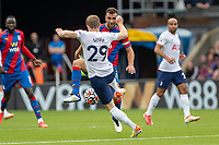 Football - 2021/2022  Premier League - Crystal Palace vs Tottenham Hotspur - Selhurst Park  - Saturday 11th September 2021.<br /> <br /> Oliver Skipp (Tottenham Hotspur) and James McArthur (Crystal Palace) compete for the ball in the midfield at Selhurst Park.<br /> <br /> COLORSPORT/DANIEL BEARHAM