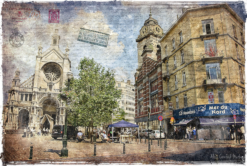 Sainte Catherine Square, Brussels, Belgium - Forgotten Postcard