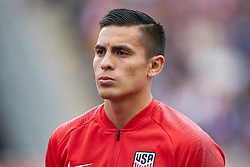 May 28, 2018 - Chester, PA, U.S. - CHESTER, PA - MAY 28: United States forward Rubio Rubin (23) looks on during the national anthem prior to the start of the international friendly match between the United States and Bolivia at the Talen Energy Stadium on May 28, 2018 in Chester, Pennsylvania. (Photo by Robin Alam/Icon Sportswire) (Credit Image: © Robin Alam/Icon SMI via ZUMA Press)