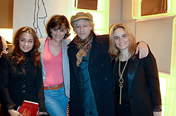 Left to right, JEANNE MARINE, INES DE LA FRESSANGE, SIR BOB GELDOF and SOPHIE GACHET at a party to celebrate the publication of 'Parisian Chic: A Style guide' by Ines de La Fressange held at Roger Vivier, Sloane Street, London on 5th Apreil 2011.