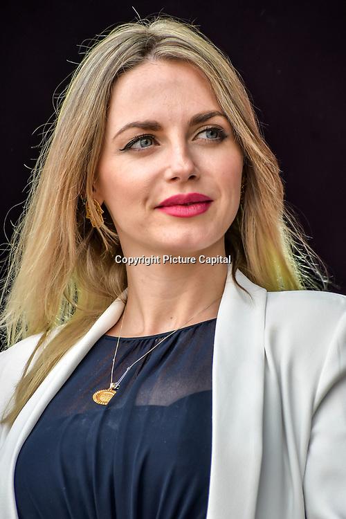Myriam Francois presenters at the Eid festival in Trafalgar Square London to mark the end of Ramadan on 8 June 2019, London, UK.