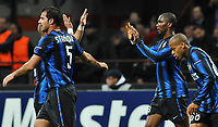 Fotball<br /> Italia<br /> Foto: Insidefoto/Digitalsport<br /> NORWAY ONLY<br /> <br /> Inter player Samuel Eto'o celebrates his 4-0 leading goal<br /> <br /> 20.10.2010<br /> Inter v Tottenham<br /> UEFA Champions League 2010-2011