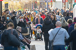 © Licensed to London News Pictures. 04/11/2020.  <br /> Bromley, UK. Crowds on the High Street. Last minute lockdown panic buying shoppers flock to Bromley High Street in South London this afternoon to get food essentials and Christmas gifts. Photo credit:Grant Falvey/LNP