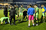 Forest Green Rovers academy manager Scott Bartlett talks to the players as we head into extra time during the The FA Youth Cup match between Bristol Rovers and Forest Green Rovers at the Memorial Stadium, Bristol, England on 2 November 2017. Photo by Shane Healey.