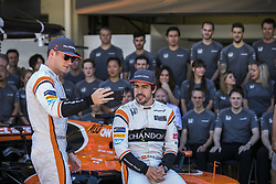 November 12, 2017 - Sao Paulo, Sao Paulo, Brazil - Nov, 2017 - Sao Paulo, Sao Paulo, Brazil - FERNANDO ALONSO(right) and STOFFEL VANDOORNE McLaren Honda drivers. It happens on Sunday (12) the Brazilian Grand Prix of Formula One, in the autodromo track of Interlagos in Sao Paulo. (Credit Image: © Marcelo Chello via ZUMA Wire)