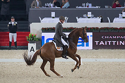Van Der Meer Patrick (NED) - Karolus van Wittenstein<br /> Freestyle Intermediare I<br /> Flanders Christmas Jumping - Mechelen 2012<br /> © Dirk Caremans