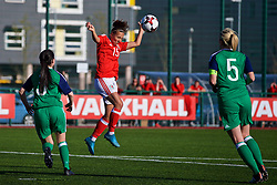 YSTRAD MYNACH, WALES - Wednesday, April 5, 2017: Wales' Melissa Fletcher in action during the Women's International Friendly match against Northern Ireland at Ystrad Mynach. (Pic by Laura Malkin/Propaganda)