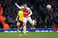 Gabriel Paulista of Arsenal in action. The Emirates FA cup, 4th round match, Arsenal v Burnley at the Emirates Stadium in London on Saturday 30th January 2016.<br /> pic by John Patrick Fletcher, Andrew Orchard sports photography.