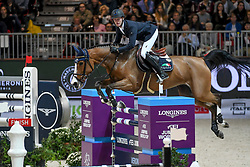 VERONA, ITALY - OCTOBER 28: Niels Bruynseels of Belgium riding Gancia de Muze, during the Longines FEI Jumping World Cup Verona 2018 - CSI5*-W on October 28, 2018 in Verona, Italy. (Photo by Davide Mombelli - orangephoto )