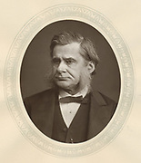 Thomas Henry Huxley (1825-1895) English biologist and man of science. Supporter of Darwin. Woodburytype published 1877