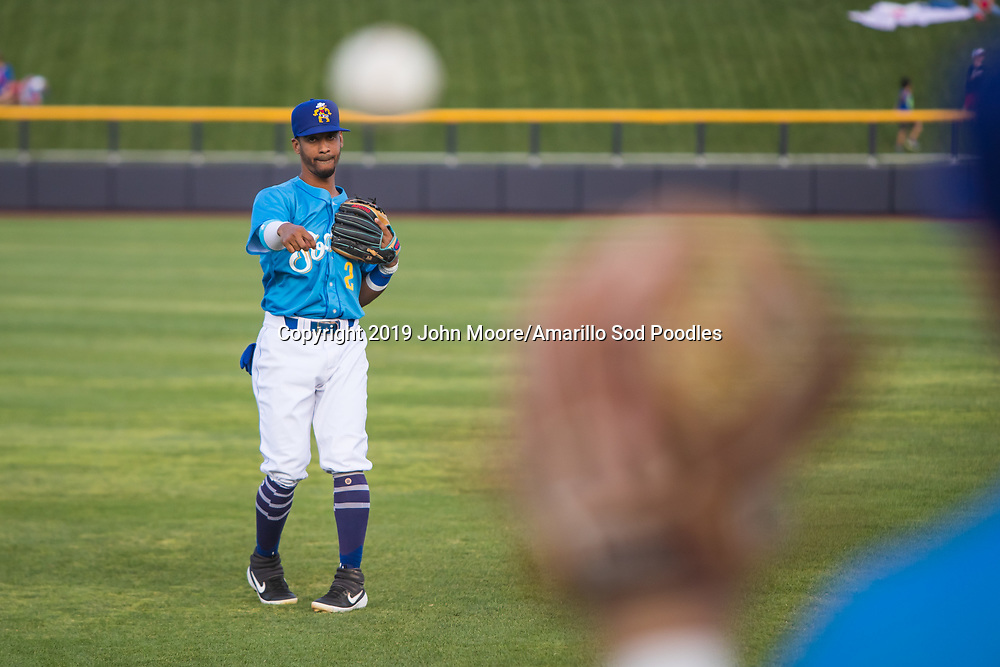 Amarillo Sod Poodles infielder Ivan Castillo (2) against the Tulsa Drillers during the Texas League Championship on Tuesday, Sept. 10, 2019, at HODGETOWN in Amarillo, Texas. [Photo by John Moore/Amarillo Sod Poodles]