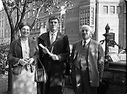 Tony O'Reilly, Rugby Player, Receives Degree at UCD .06/10/1958 .