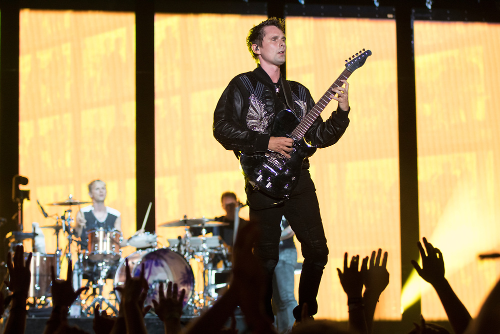 Muse perform at Bonnaroo in Manchester, TN on June 8, 2018.