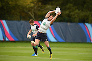 Eoin Reddan of Ireland in action during the Ireland rugby team training at Newport High School in Newport , South Wales on Wed 7th October 2015.the team are preparing for their next RWC match against France this weekend.<br /> pic by  Andrew Orchard, Andrew Orchard sports photography.