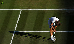 Alexander Zverev on day six of the Wimbledon Championships at the All England Lawn Tennis and Croquet Club, Wimbledon.