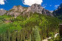 Camp Bird Road (jeep road between Ouray and Yankee Boy Basin), Colorado USA
