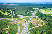 Nederland, Gelderland, Gemeente Arnhem, 09-06-2016; knooppunt Waterberg, A12 Arnhem-Duitsland en A50.<br /> Waterberg junction, near Arnhem<br /> luchtfoto (toeslag op standard tarieven);<br /> aerial photo (additional fee required);<br /> copyright foto/photo Siebe Swart