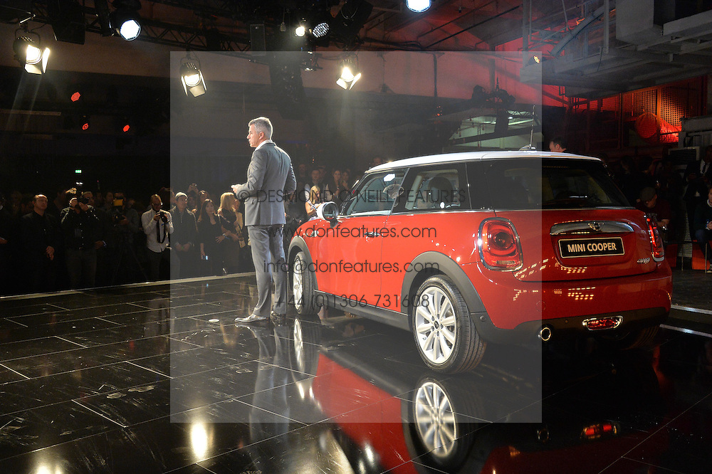 Monday 18th November 2013 saw a host of London hipsters, social faces and celebrities, gather together for the much-anticipated World Premiere of the brand new MINI.<br /> Attendees were among the very first in the world to see and experience the new MINI, exclusively revealed to guests during the party. Taking place in the iconic London venue of the Old Sorting Office, 21-31 New Oxford Street, London guests enjoyed a DJ set from Little Dragon, before enjoying an exciting live performance from British band Fenech-Soler.<br /> Picture Shows:-PETER SCHWARZENBAUER