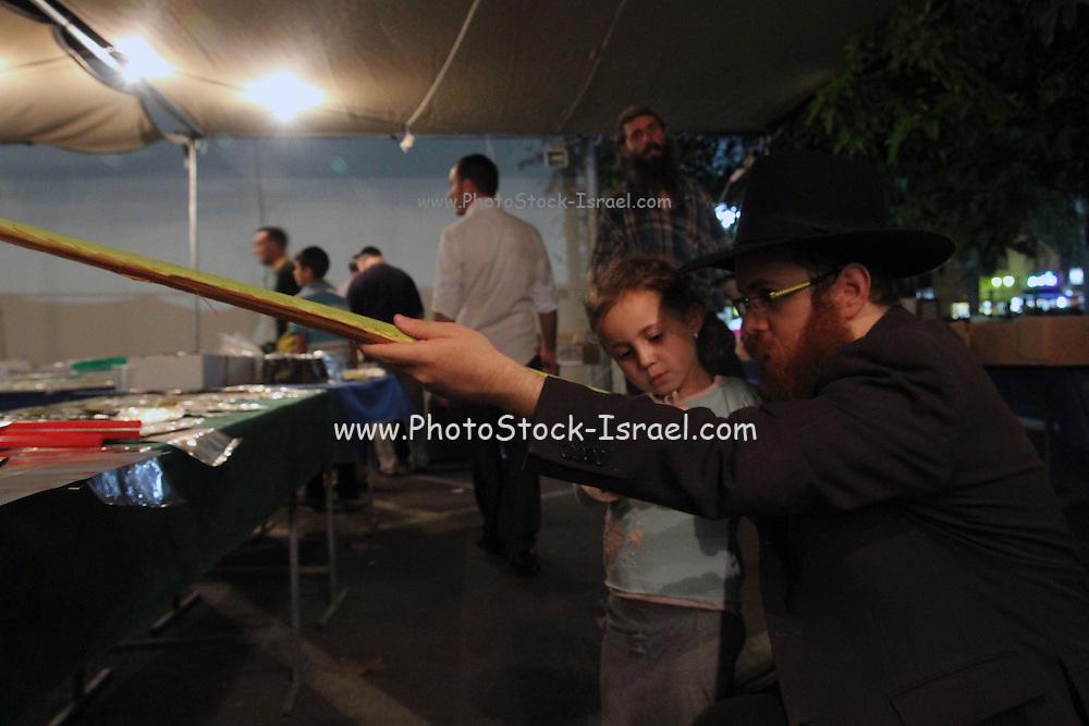 Israel, Jerusalem, the Sukkoth 4 species market.