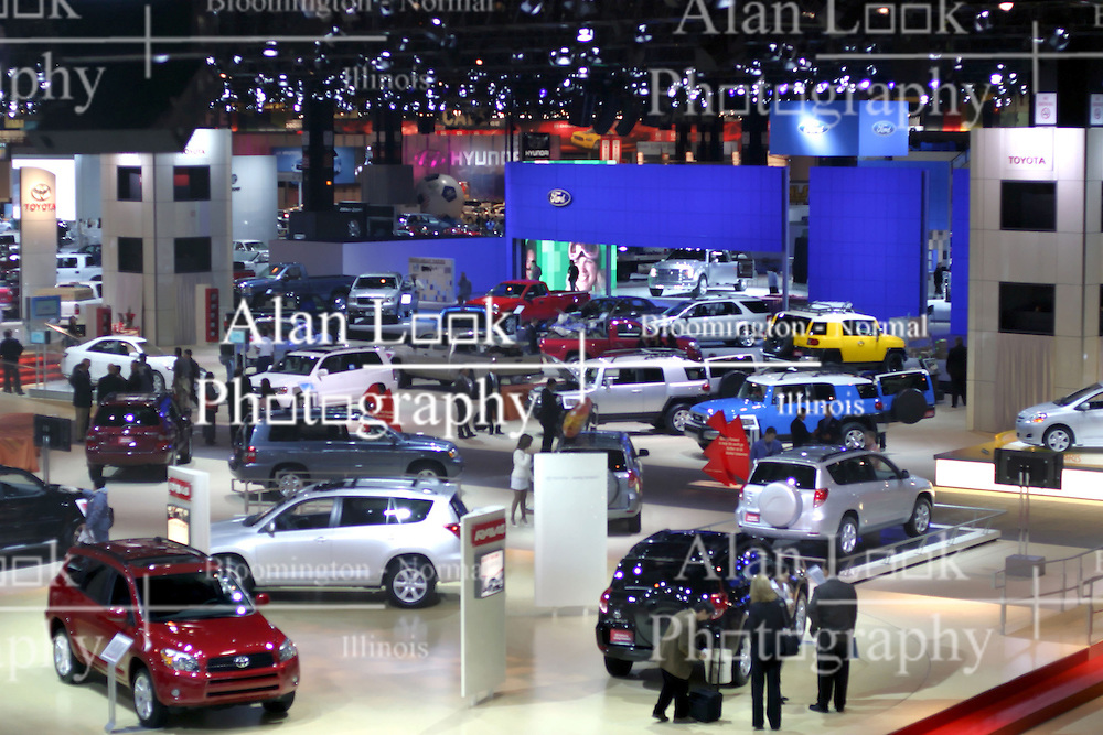 09 February 2006:  General shot of Floor.  Looking over the Toyota display and into the Ford Display.....Chicago Automobile Trade Association, Chicago Auto Show, McCormick Place, Chicago IL