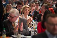 09 DEC 2014, KOELN/GERMANY:<br /> Ursula von der Leyen, CDU, Bundesverteidigungsministerin, sitzt in den Reihen der Delegierten, CDU Bundesparteitag, Messe Koeln<br /> IMAGE: 20141209-01-118<br /> KEYWORDS: Party Congress, Applaus, applaudieren, klatschen