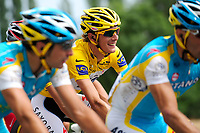 CYCLING - TOUR DE FRANCE 2010 - REVEL (FRA) - 17/07/2010 - PHOTO : VINCENT CURUTCHET / DPPI - <br /> STAGE 13 - RODEZ > REVEL - ANDY SCHLECK (LUX) / SAXO BANK