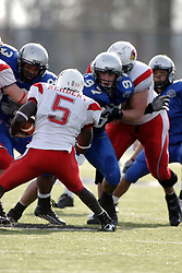 25 November 2006: Pierre Rembert is met by Jeff Sobol and Brian Berdis. The Redbirds romped the Panthers by a score of 24-13.&#xD;This game was a 1st round NCAA Division 1 Playoff held at O'Brien Stadium on the campus of Eastern Illinois University in Charleston Illinois.<br />