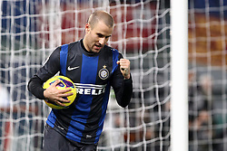 23.01.2013, Olympiastadion, Rom, ITA, TIM Cup, Lazio Rom vs Inter Mailand, Halbfinale, im Bild Esultanza di Rodrigo Palacio Inter dopo il gol.goal celebration // during the TIM Cup Semi Final 2nd Leg match between between SS Lazio and Inter Milan at the Olympic Stadium, Rome, Italy on 2013/01/23. EXPA Pictures © 2013, PhotoCredit: EXPA/ Insidefoto/ Paolo Nucci..***** ATTENTION - for AUT, SLO, CRO, SRB, BIH and SWE only *****
