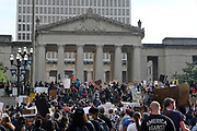 Protesters March the Courthouse during the Teens For Peace March in Nashville, TN on June 4, 2020