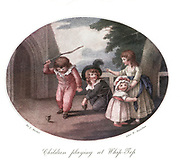 late 18th Century colour illustration depicting children playing